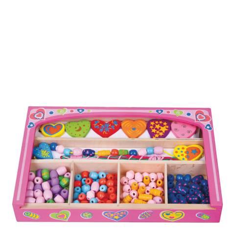 Viga Toys Wooden Lacing Beads Heart