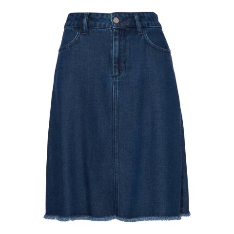 French Connection Washed Blue Skirt