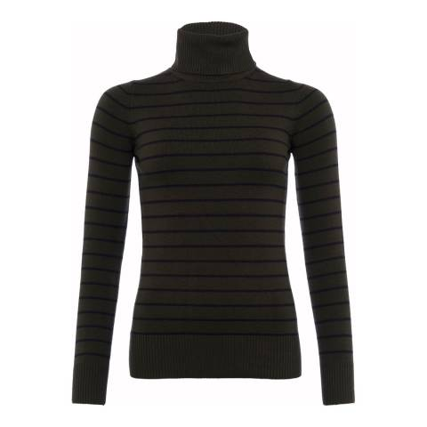 French Connection Multi Babysoft Stripe Turtle Neck Jumper