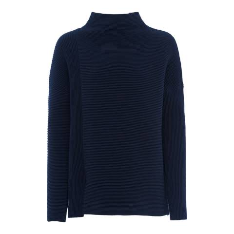 French Connection Navy Sunday Mozart Long Sleeve High Neck Jumper