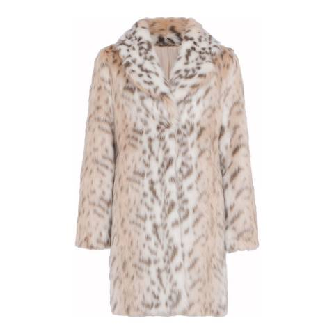 French Connection Pale Leopard Coat
