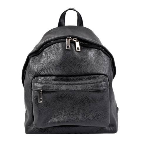 Roberta M Black Leather Roberta Backpack