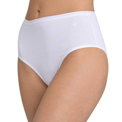 Triumph White Cotton Basics Modern Maxi Briefs 2 Pack