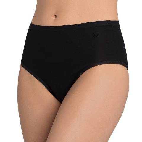 Triumph Black Cotton Basics Modern Maxi Briefs 2 Pack