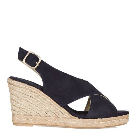 Hobbs London Navy Suede Charlotte Espadrille Wedges