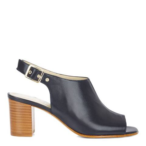 Hobbs London Navy Leather Heeled Sandals