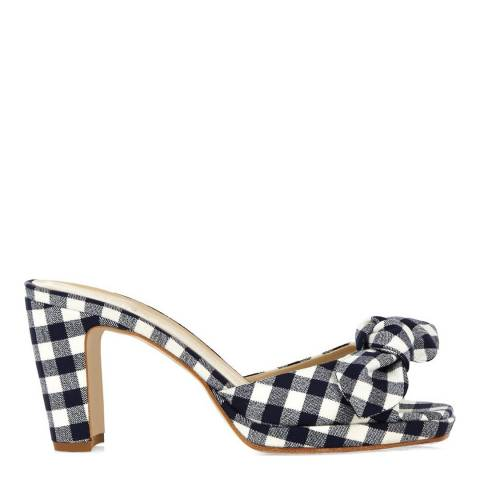 Hobbs London Gingham Print Ophelia Heeled Mules