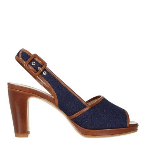 Hobbs London Denim Calf Leather Rebecca Sandals