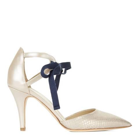 Hobbs London Blush Leather Gabriella Court Shoes