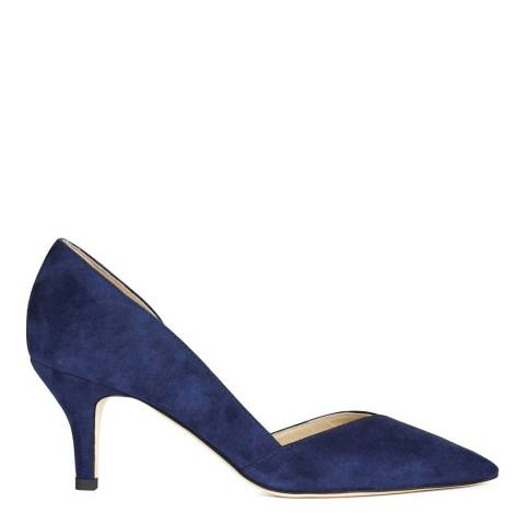 Hobbs London French Blue Suede Contrast Alice Court Shoes