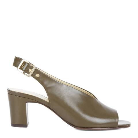 Hobbs London Olive Leather Kali Slingback Sandals