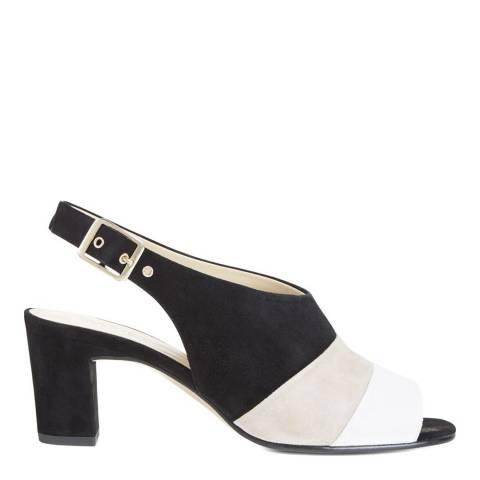 Hobbs London Black Multi Leather Kira Heel Sandals