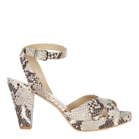 Hobbs London Snake Leather Vivienne Heeled Sandals
