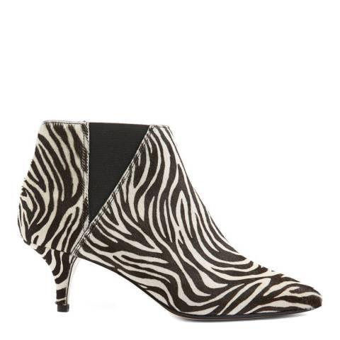 Hobbs London Zebra Print Farrah Ankle Boots