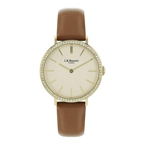 L K Bennett Mother Of Pearl Watch With Gold Casing