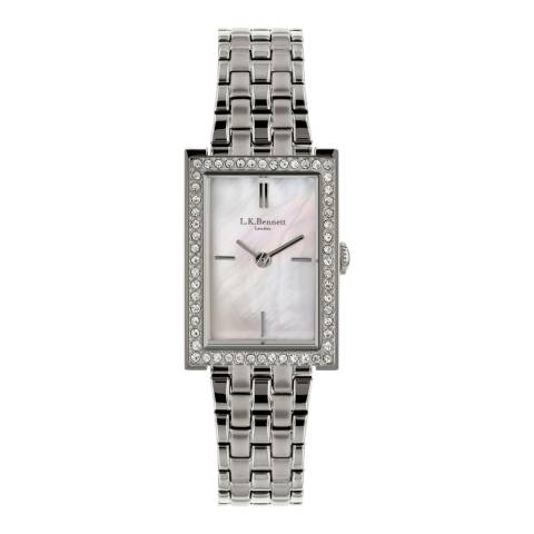 L K Bennett Mother Of Pearl Watch With Silver Casing