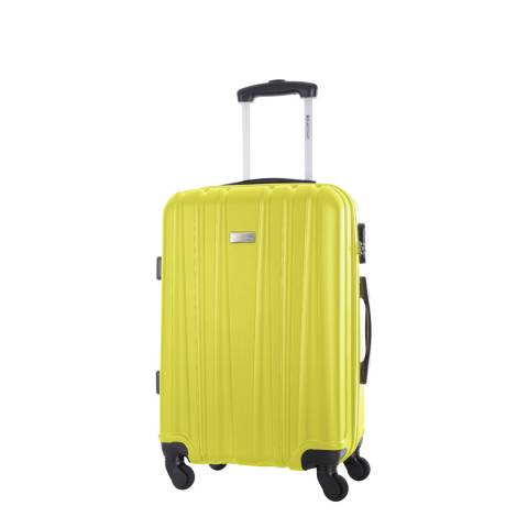 Platinium Yellow Akina Low Cost 4 Wheeled Suitcase 46cm