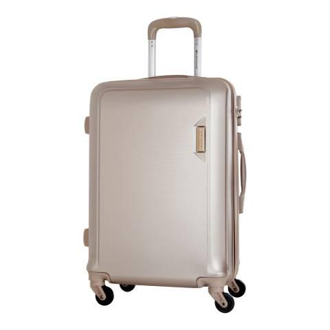 Platinium Beige Buccia 4 Wheeled Suitcase 66cm