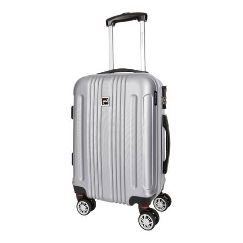Platinium Silver Stafford 8 Wheeled Suitcase 66cm