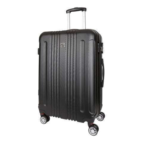 Platinium Black Stafford 8 Wheeled Suitcase 66cm