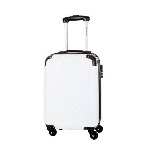 Platinium White Sifnos 4 Wheeled Suitcase 56cm