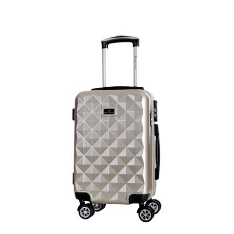 Platinium Beige Gregoria 8 Wheeled Suitcase 50cm