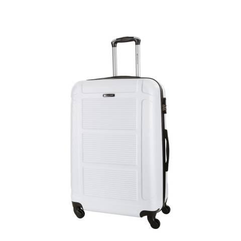 Platinium White Basildon 4 Wheeled Suitcase 50cm