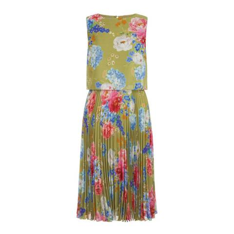 Hobbs London Green Daisy Dress