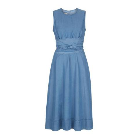 Hobbs London Blue Kathy Twitchill Dress