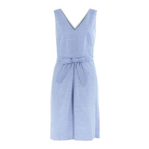 Hobbs London Blue Alison Stripe Dress