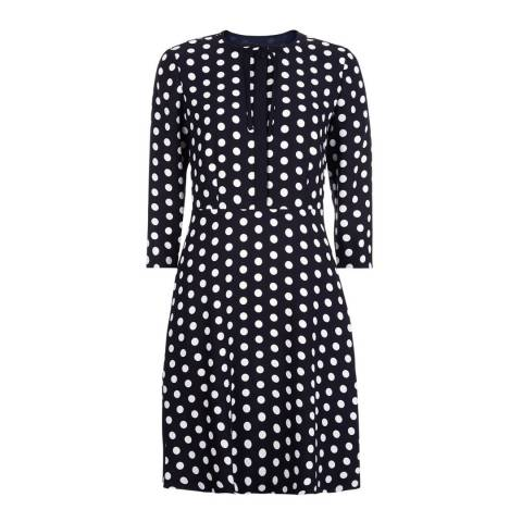 Hobbs London Navy Ariela Dress