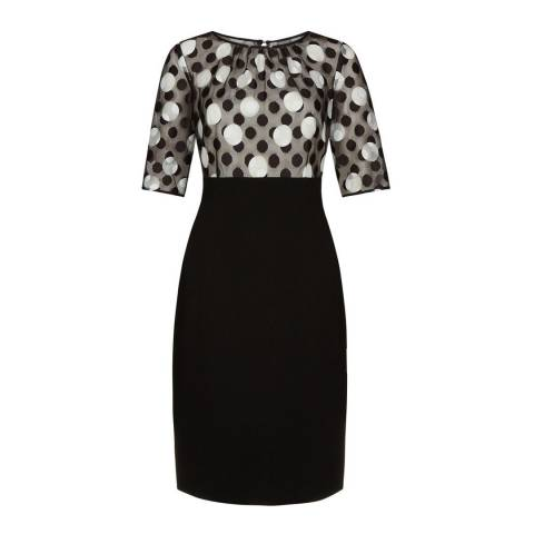 Hobbs London Black Willow Dress
