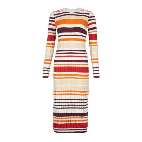 Hobbs London Cream/Multi Ria Dress