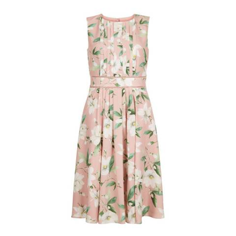 Hobbs London Blush Floral Kiri Dress
