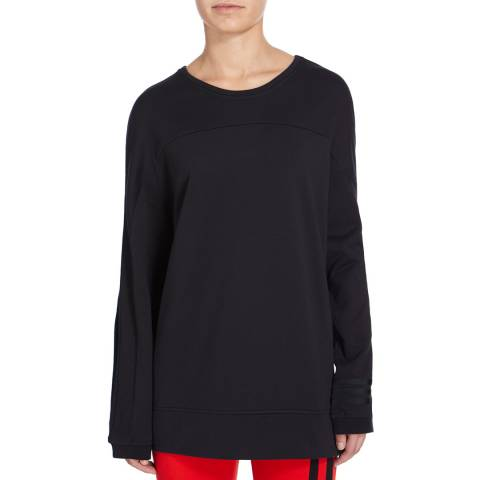 adidas Y-3 Black Crew Neck Sweatshirt