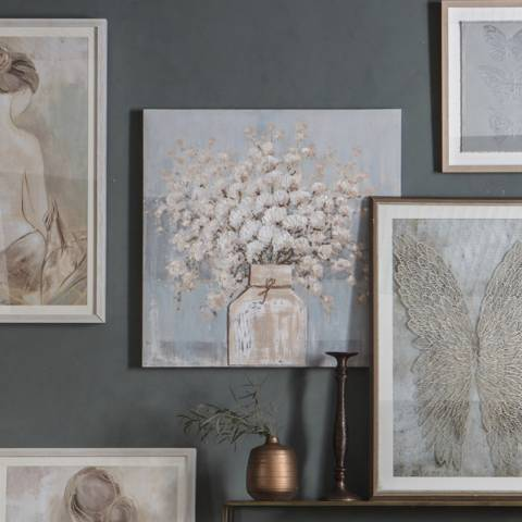 Gallery Cornflower Still Life Framed Art 80x80cm