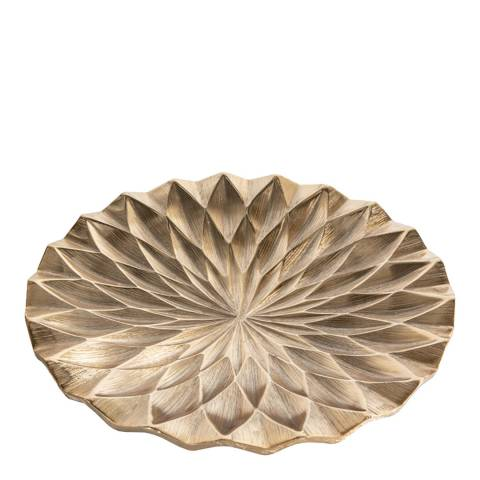 Gallery Gold Kingsley Diamond Round Platter
