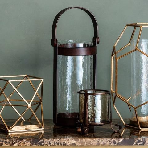 Gallery Bronze Oscava Clear Lantern