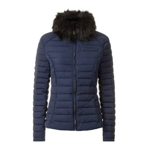 Hunter Navy Original Fitted Down Jacket