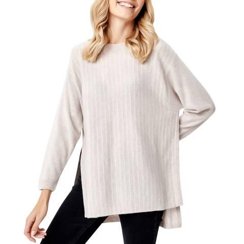 Manode Light Beige Cashmere Side Split Knitted Jumper