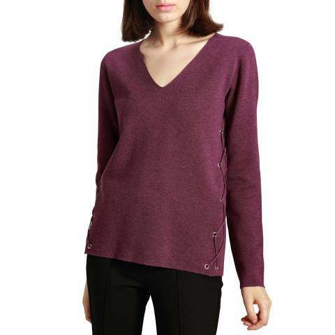 Manode 33% POLYESTER 25% ACRYLIC 11% VISCOSE 9% COTTON 9% NYLON 8% WOOL 3% SILK 2% CASHMERE KNITTED PULLOVER