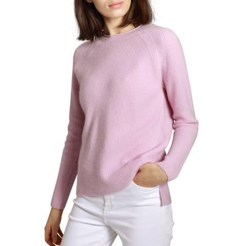 Manode Pink Cashmere Round Neck Knitted Jumper