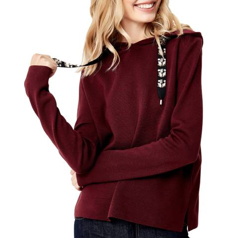 Manode Red Cashmere Mix Hoody