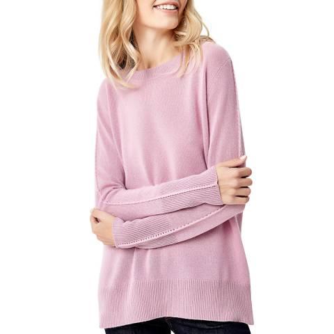 Manode Pink Cashmere Braid Stitch Knitted Jumper