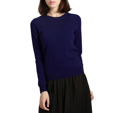 Manode Navy Cashmere Knitted Jumper