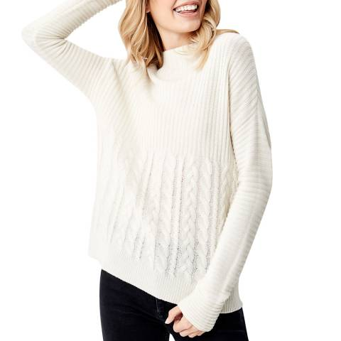 Manode Off White Cashmere Mix Knitted Jumper