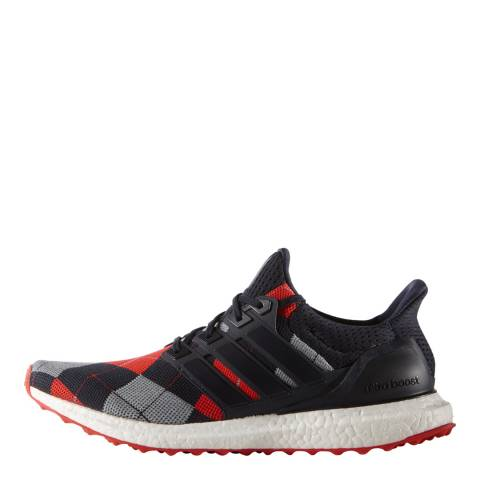 Adidas by Kris Van Assche Navy Argyle Adidas By Kris Van Assche Ultra Boost Sneakers