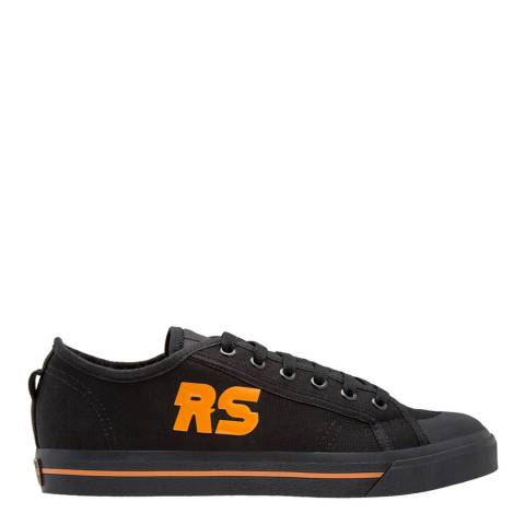 Adidas By Raf Simons Black Orange Raf Simons Spirit Low Sneakers