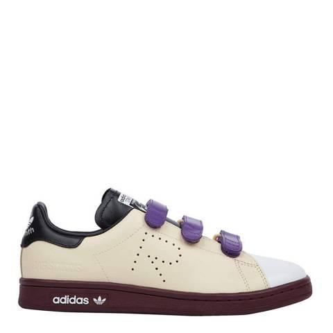 Adidas By Raf Simons Cream Leather Raf Simons Stan Smith Comfort Sneakers
