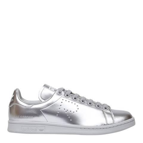 Adidas By Raf Simons Silver Leather Raf Simons Stan Smith Sneakers